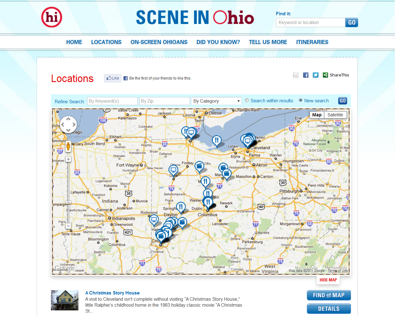 Scene in Ohio Locations