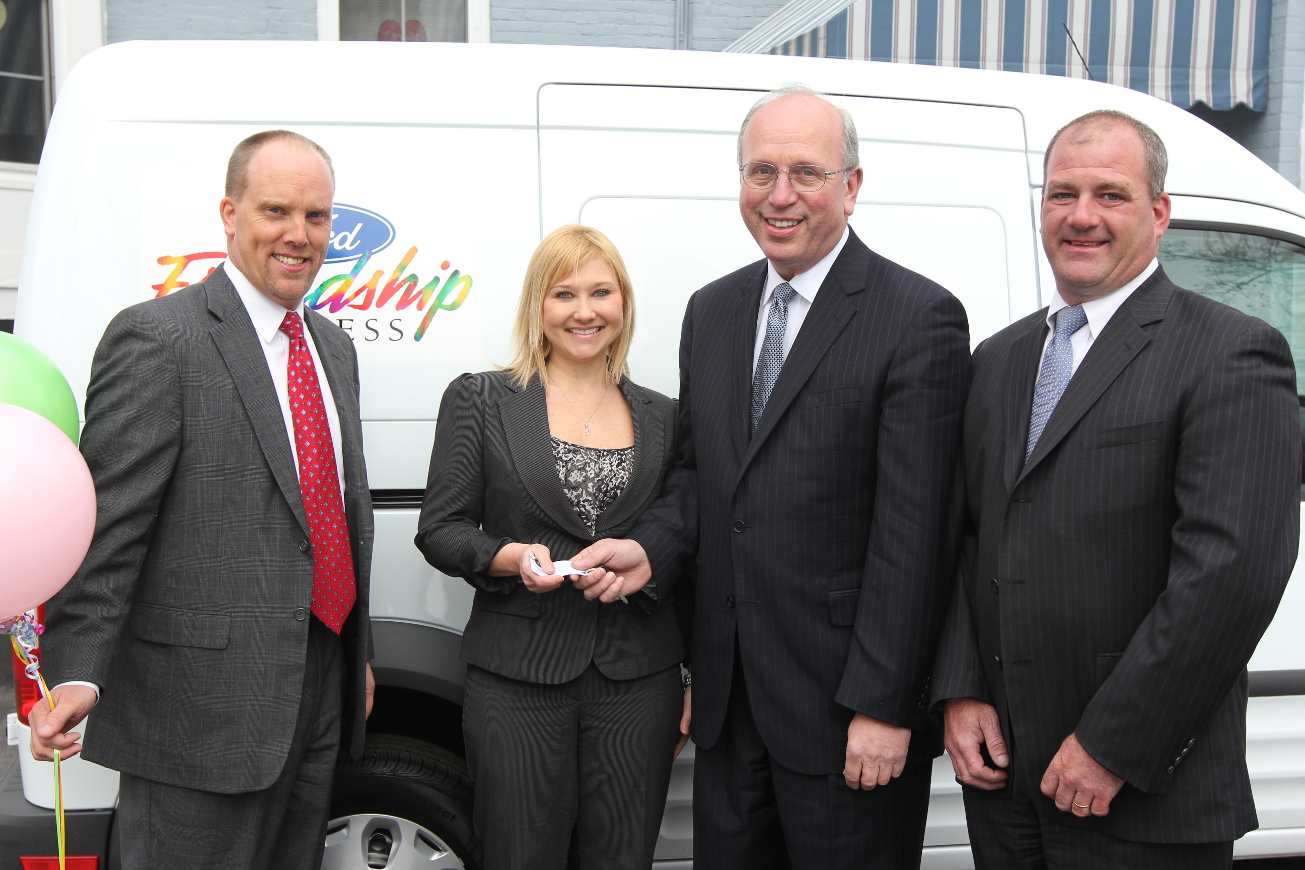 WNY Ford Dealers, Scott Bieler and Peter DeLacy, award new Ford Friendship Express van to The Bristol Home in Buffalo, NY