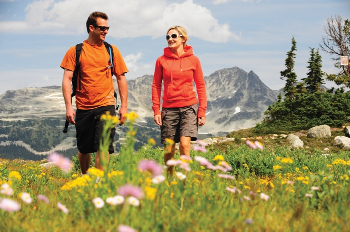 Walk amongst the wild flowers in Whistler (EnjoyWhistler.com). Photo credit: Tourism Whistler