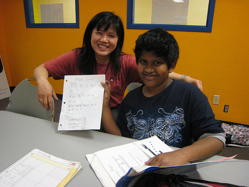 Chantal helped several students, including this one, get to the top of the class by helping with homework at the Boys & Girls Club's Plano branch.