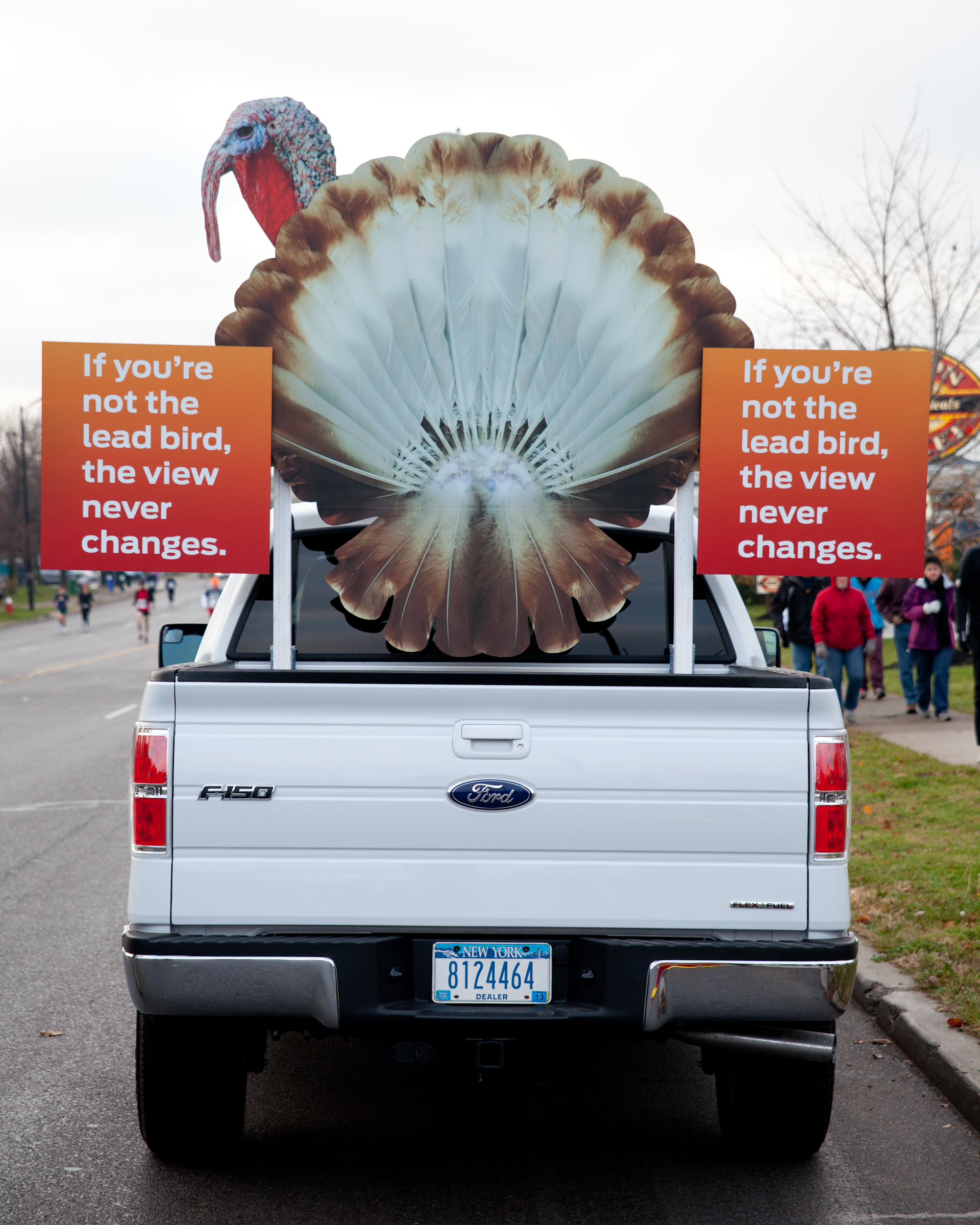 WNY Ford Dealers surprised Buffalo Turkey Trotters with a decked out Built Tough Ford F-150 pace truck.