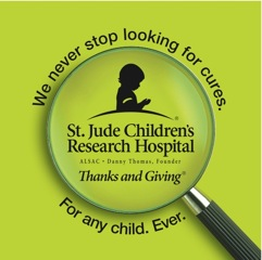 St. Jude Children's Research Hospitalr Thanks and Givingr campaign logo