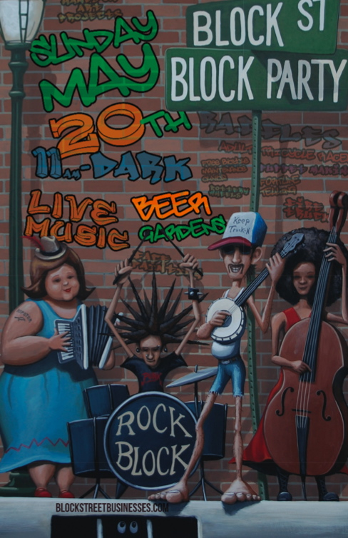 Block Street Block Party 2012 Poster Artwork (original painting by Artist Jason Jones)