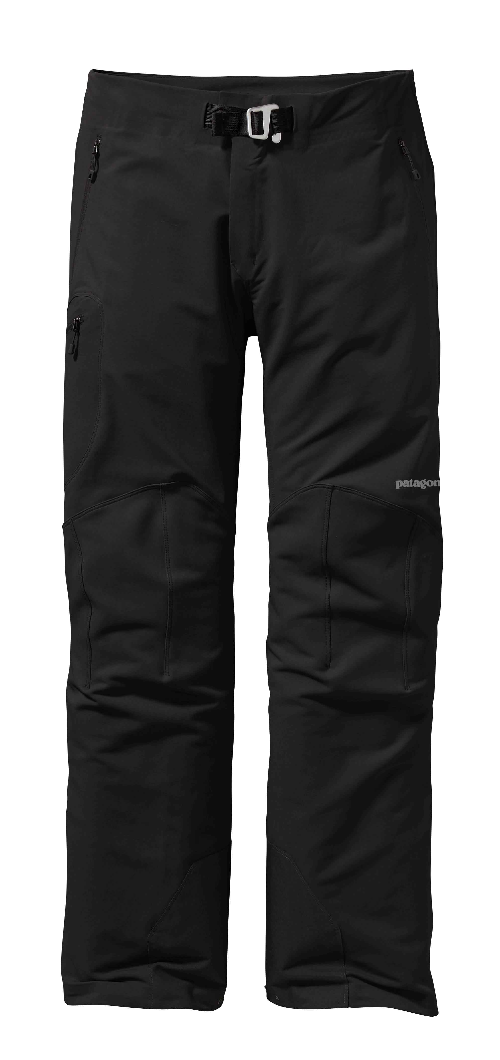 Patagonia men's Alpine Guide Pant - The Alpine Guide Jacket and Pants are highly durable, breathable soft shells made of a new wind-resistant Polartecr Power Shieldr Stretch Woven fabric to both protect and vent on extended, demanding climbs or ski tours. Polartecr Power Shieldr Stretch Wovens are enhanced with Polartecr Hardfacer technology to dramatically increase abrasion and snag/pick resistance, improve lasting durable water repellency, reduce moisture gain in wet conditions and accelerate dry-times. Polartecr Power Shieldr Stretch Woven fabrics offer a dramatic improvement on the original soft shell concept - single layer woven fabrics that deliver excellent weather protection, high breathability and lasting durability for harsh use.