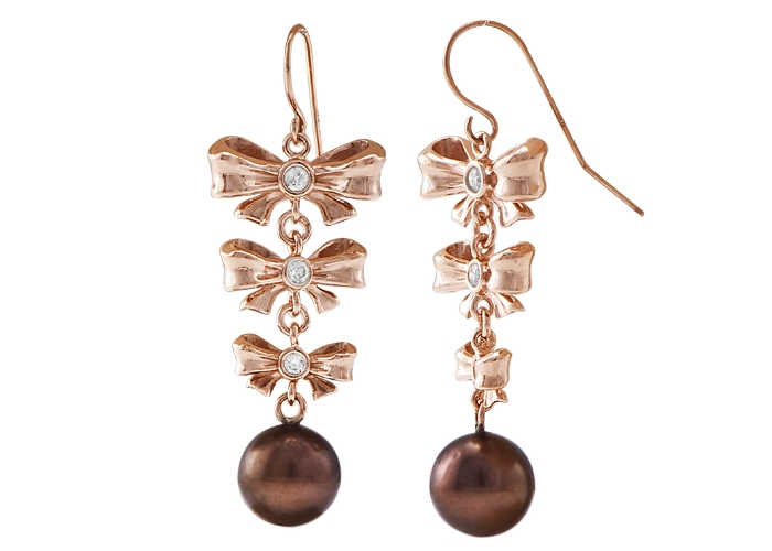Hipu'u Aloha Collection Chocolate Pearl Earrings