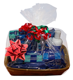 Topical BioMedics has donated a `Remedies for Your Extremities' gift basket containing tubes, jars and bottles of Topricin Pain Relief and Healing Cream as well as Topricin Foot Therapy Cream to be featured as part of the fundraising silent auction