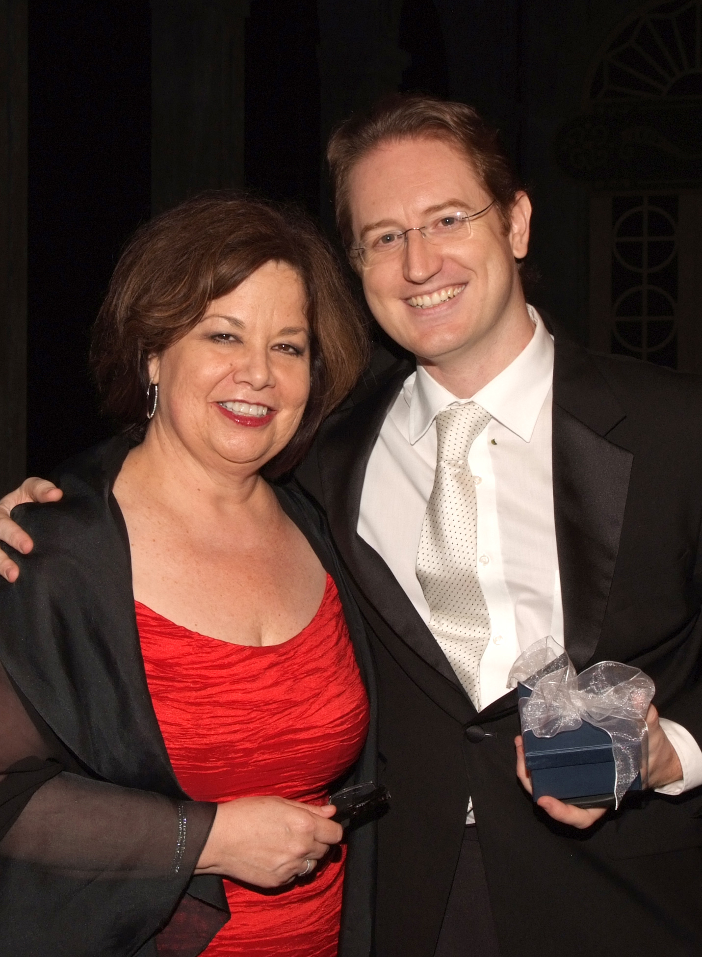 Florida Grand Opera&#39;s General Director and CEO, Susan T. Danis, with Maestro Ramon Tebar, FGO&#39;s Music Director and conductor of La boh&#232;me
