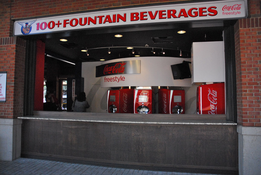 Taco Mac has partnered with the Atlanta Braves to sponsor and redo the family entertainment area of Turner Field, bringing with it the Coca-Cola Freestyle Zone. Photo Courtesy: MELT ATLANTA