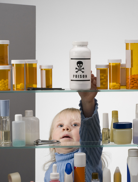 Toxins commonly found in lotions, powders and other products found in your family's medicine cabinet might expose children to harmful chemicals. Not to mention left over antibiotics, pain pills, cough medicines and cortisones. These ingredients can be hazardous to your family's health and are clearly an environmental no-no.