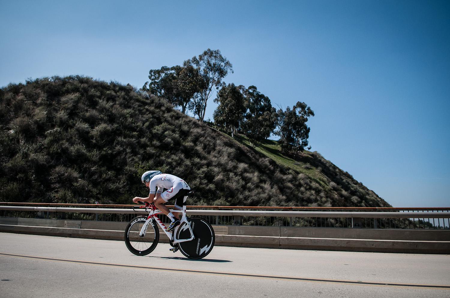 Hanging tough during the Prologue. Photo: Tommy Chandler/Competitive Cyclist.