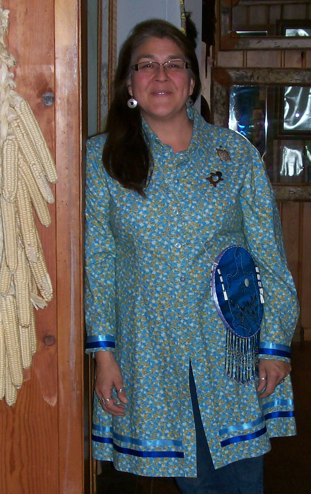 Coleen Bins of Egg Harbor, WI, member of the Oneida Nation of Wisconsin