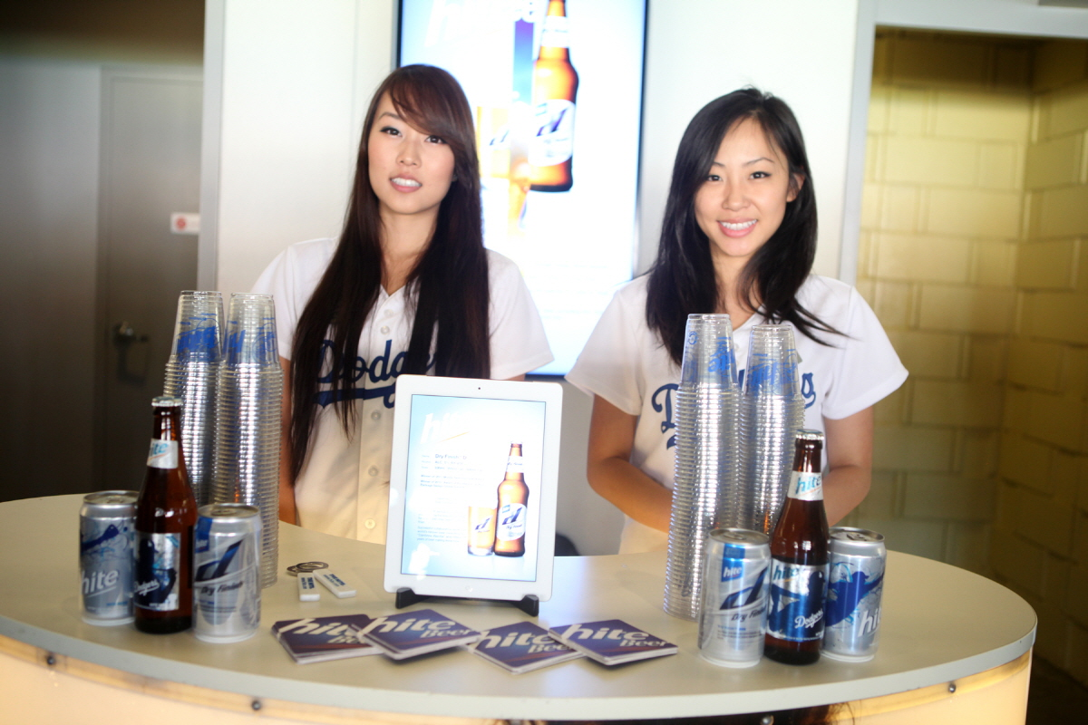 Hite Beer booth at the Dodger 'Korea Night' 2012 game, August 4, 2012.