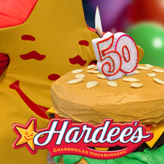Hardee's Celebrates Turning the Big 5-0 with a Party for its Fans