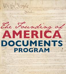 Logo of the Founding of America Documents Program.