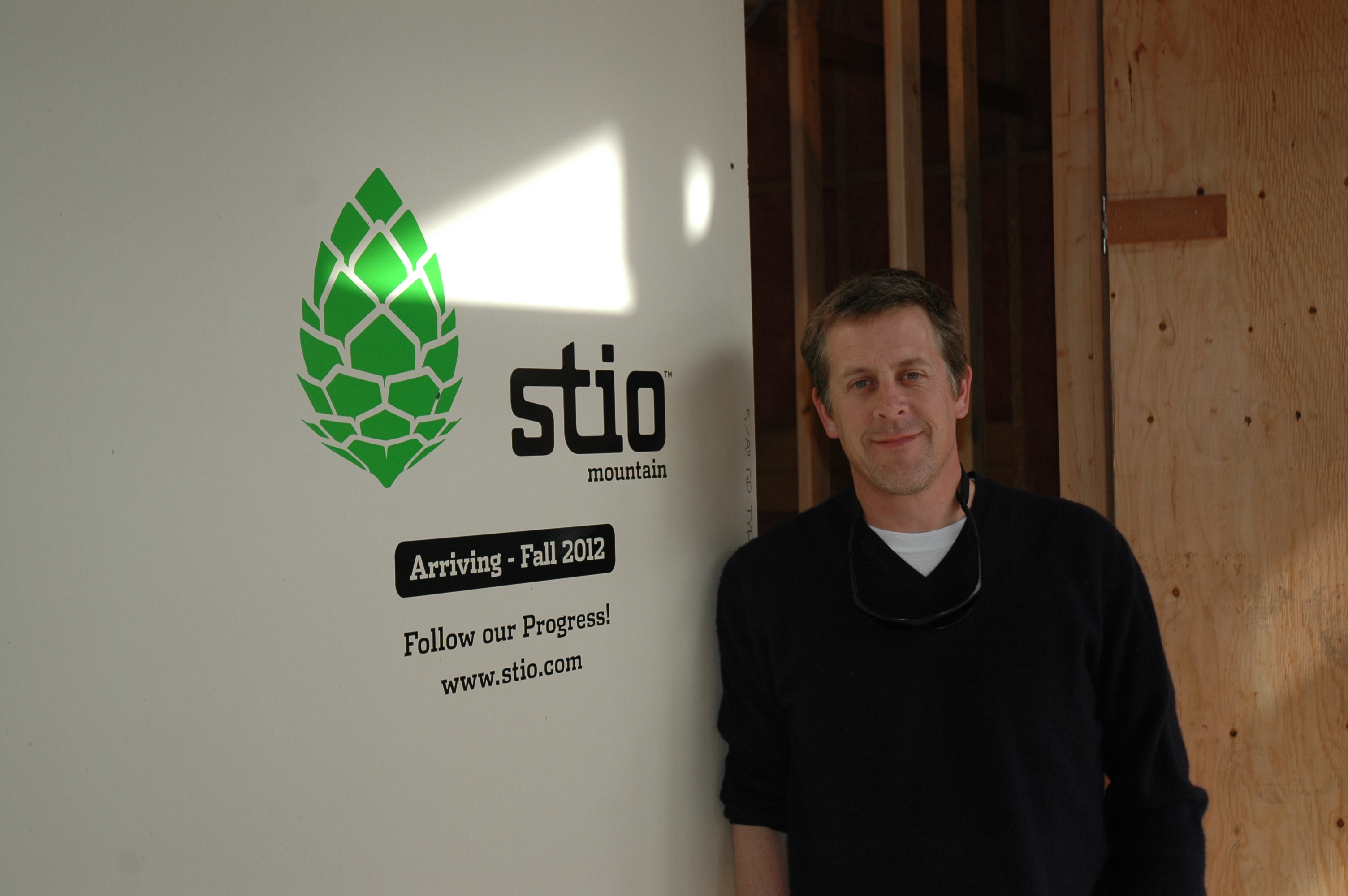 Steve Sullivan in front of the soon to be storefront of Stio in Jackson, WY.