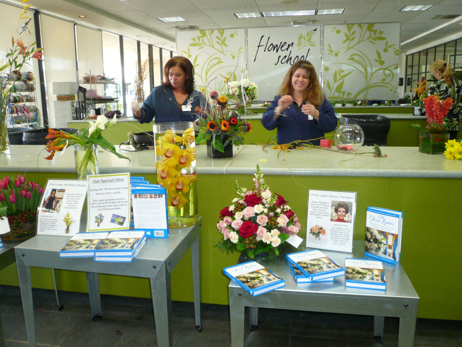 A free flower arranging demonstration for Field of Flowers customers