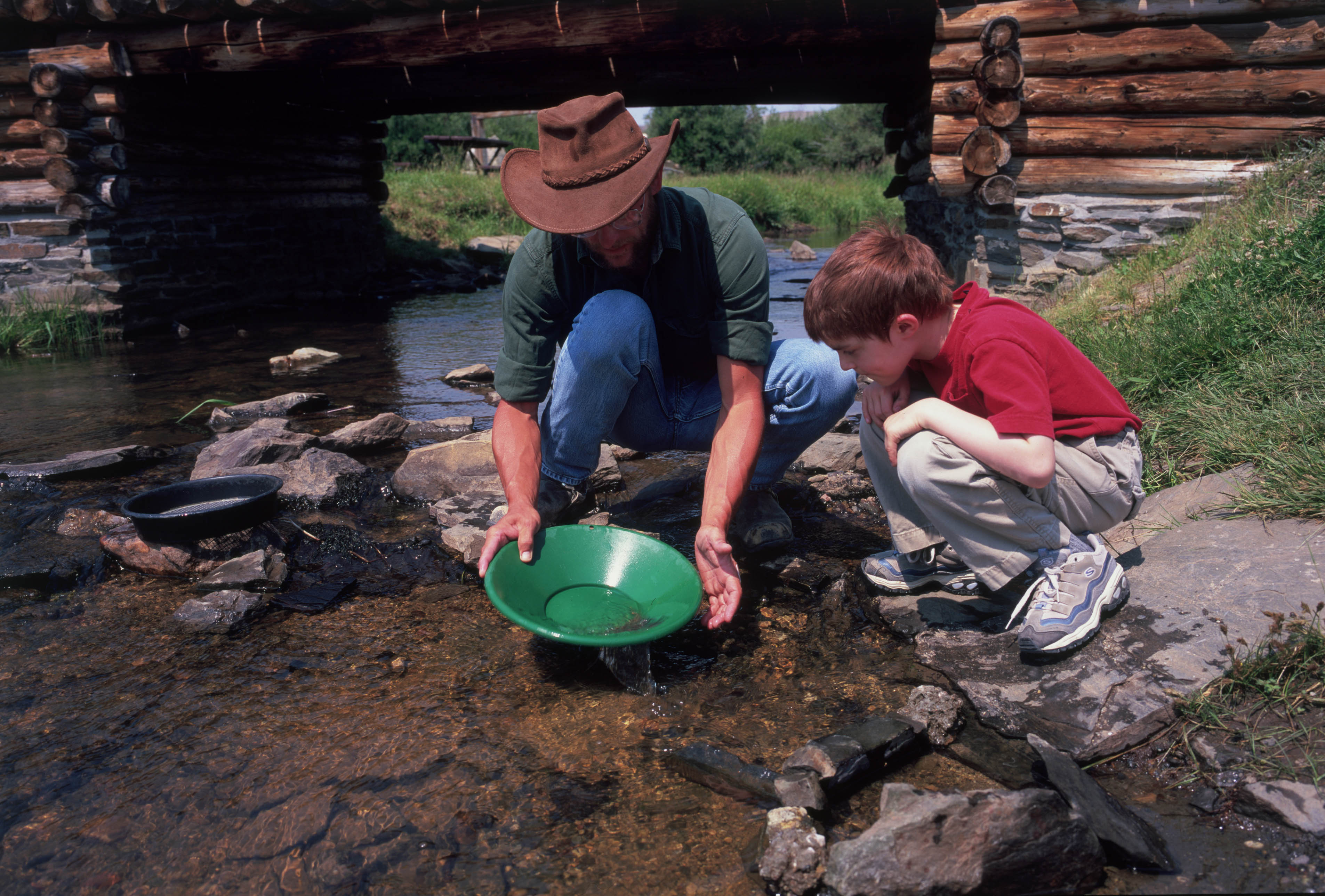 Panning for Gold, South Pass City
