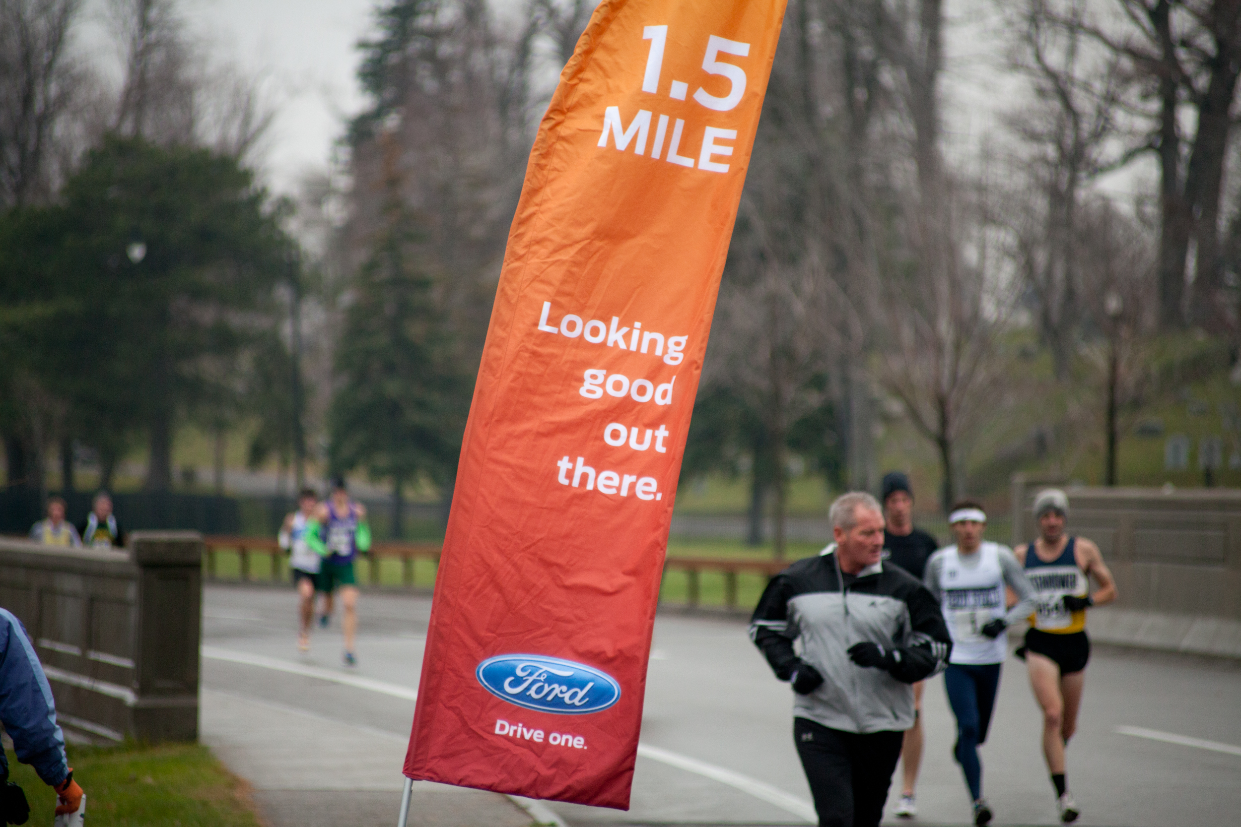 Turkey Trotters were also motivated by WNY Ford half-mile markers.