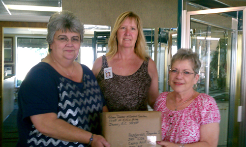 From left to right: Glass Doctor employees Donna Lee, Jeannine Beasley and Linda Hicks.