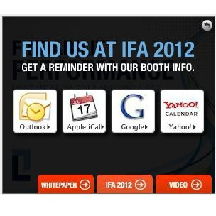 2012 IFA Calendar Reminder in SpongeCell Display Ad