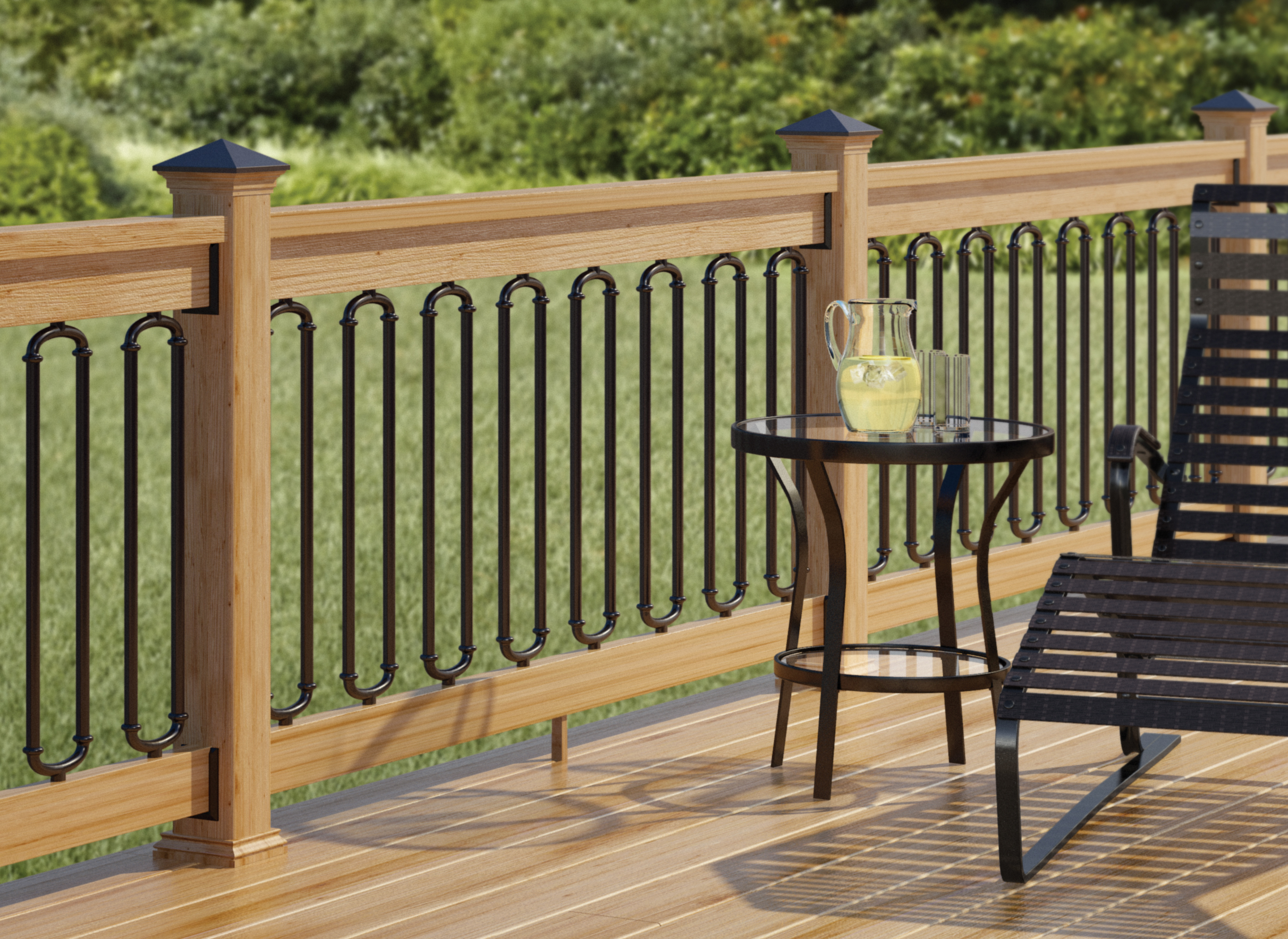 New deckorators duo connector adds creativity functionality to deck railing - Deck rail planters lowes ...