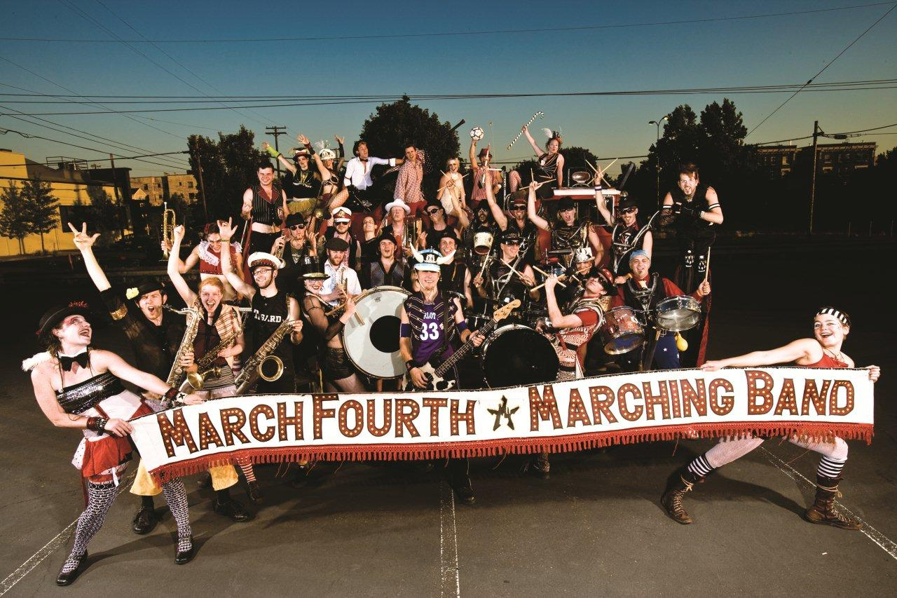 MarchFourth Marching Band previously played at the 2009 Bite of Bend.<br /> Image by Andy Batt.