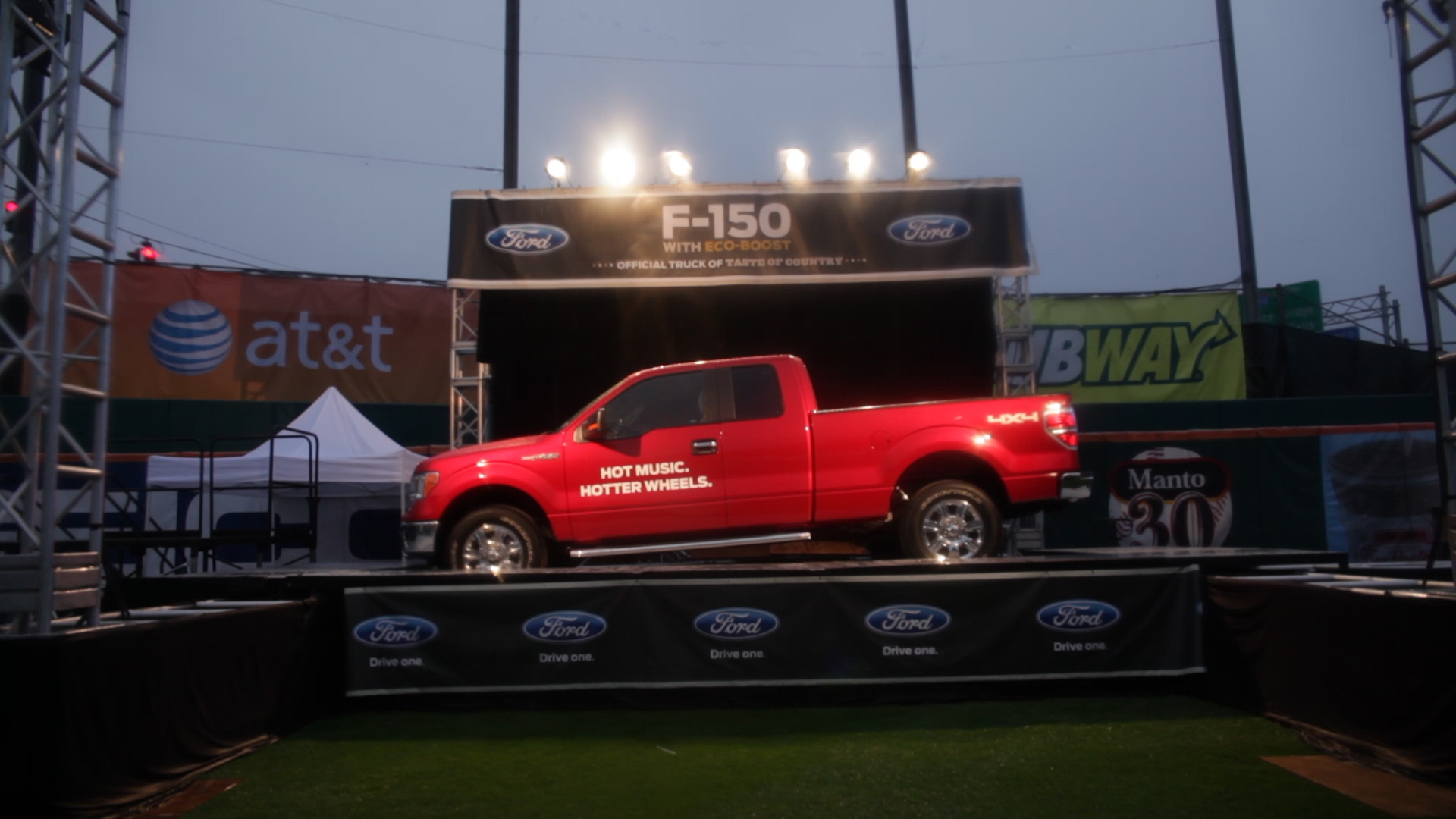 Ford F-150 display at WYRK Taste of Country concert