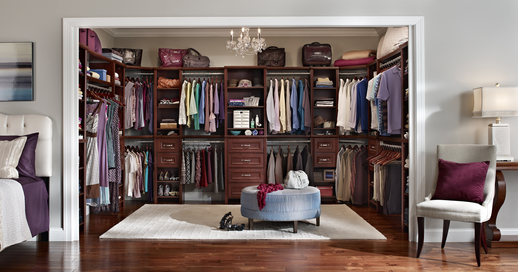 Master Bedroom Closet With Closetmaid Impressions The New Diy Laminate Storage System In Dark
