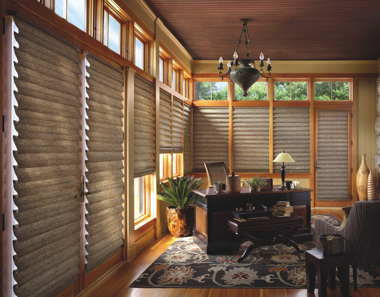 Vignetter TieredT Architellar Modern Roman Shades from 