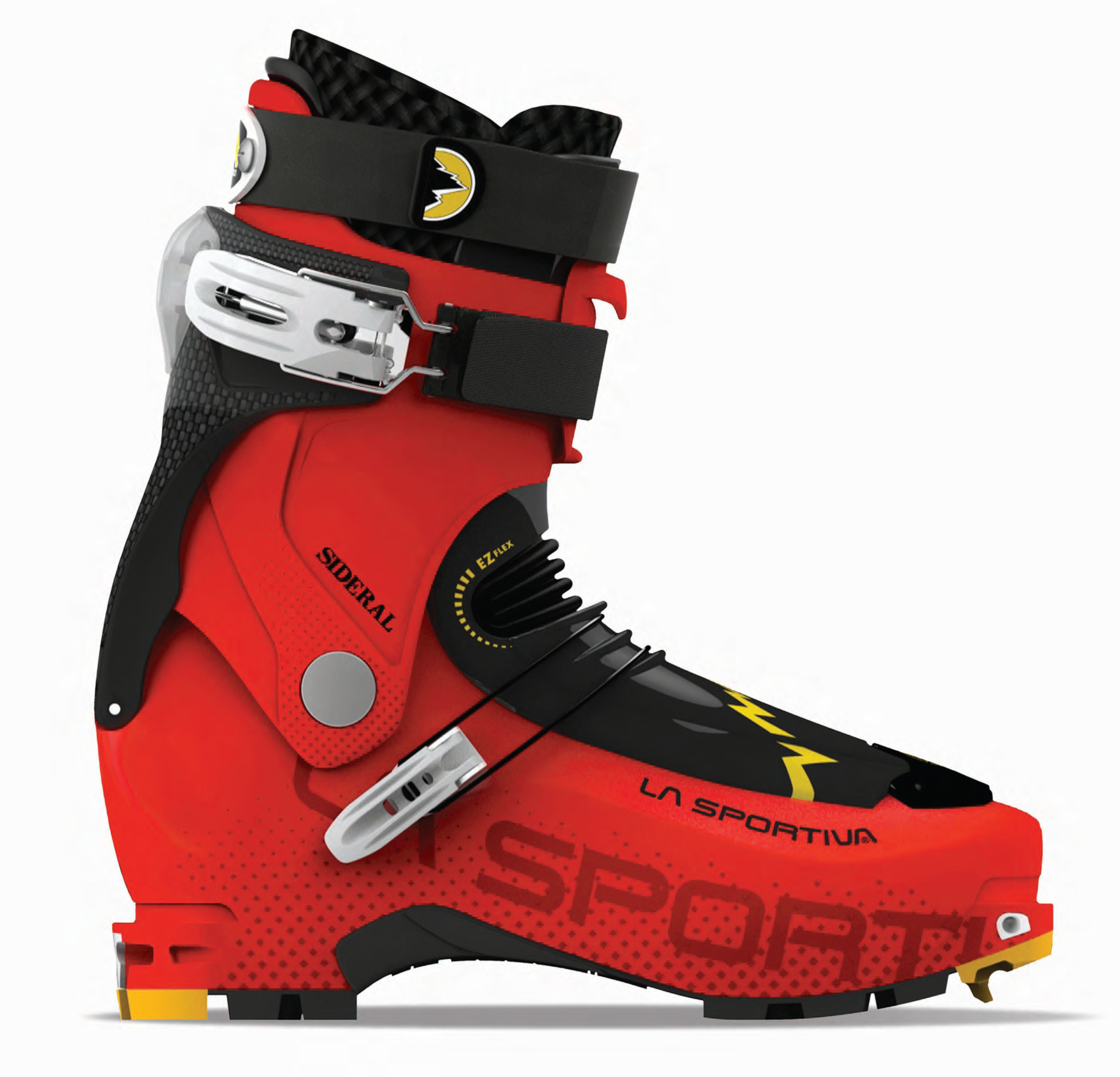 The 1165-gram Sideral is ultra-compact and quickly transitions from touring to ski mode using La Sportiva's patent-pending Fast Lock SystemT to create a boot that suits a wide variety of backcountry enthusiasts.