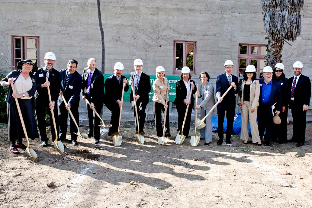 Community Members celebrate groundbreaking at Caroline Severance Manor in Los Angeles, Calif. (photo by Amy Sullivan)