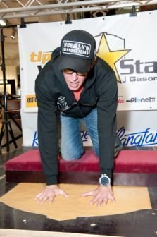 Joe Imprints at the Walk Of Stars in Vienna, Austria
