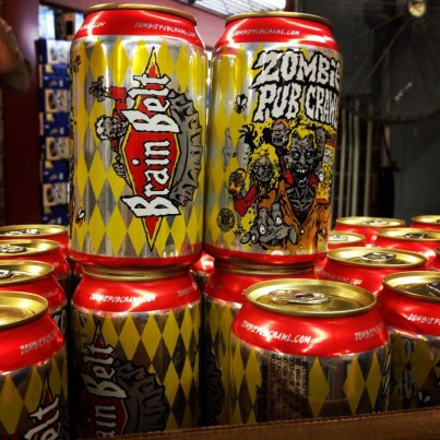 Brain Belt Cranium cans from August Schell Brewing Company!