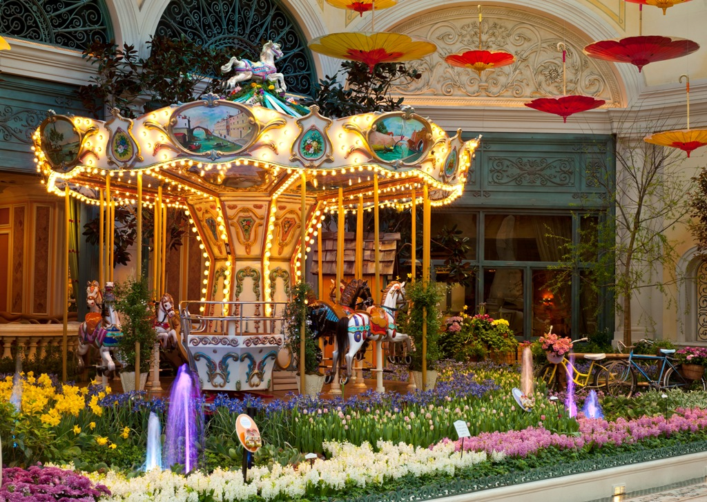 The carousel, a guest favorite, makes its return to the spring show