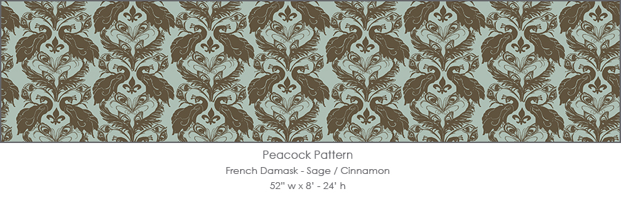 French Damask comes in 20 different color choices -- both subtle & sexy and spicy & bold.
