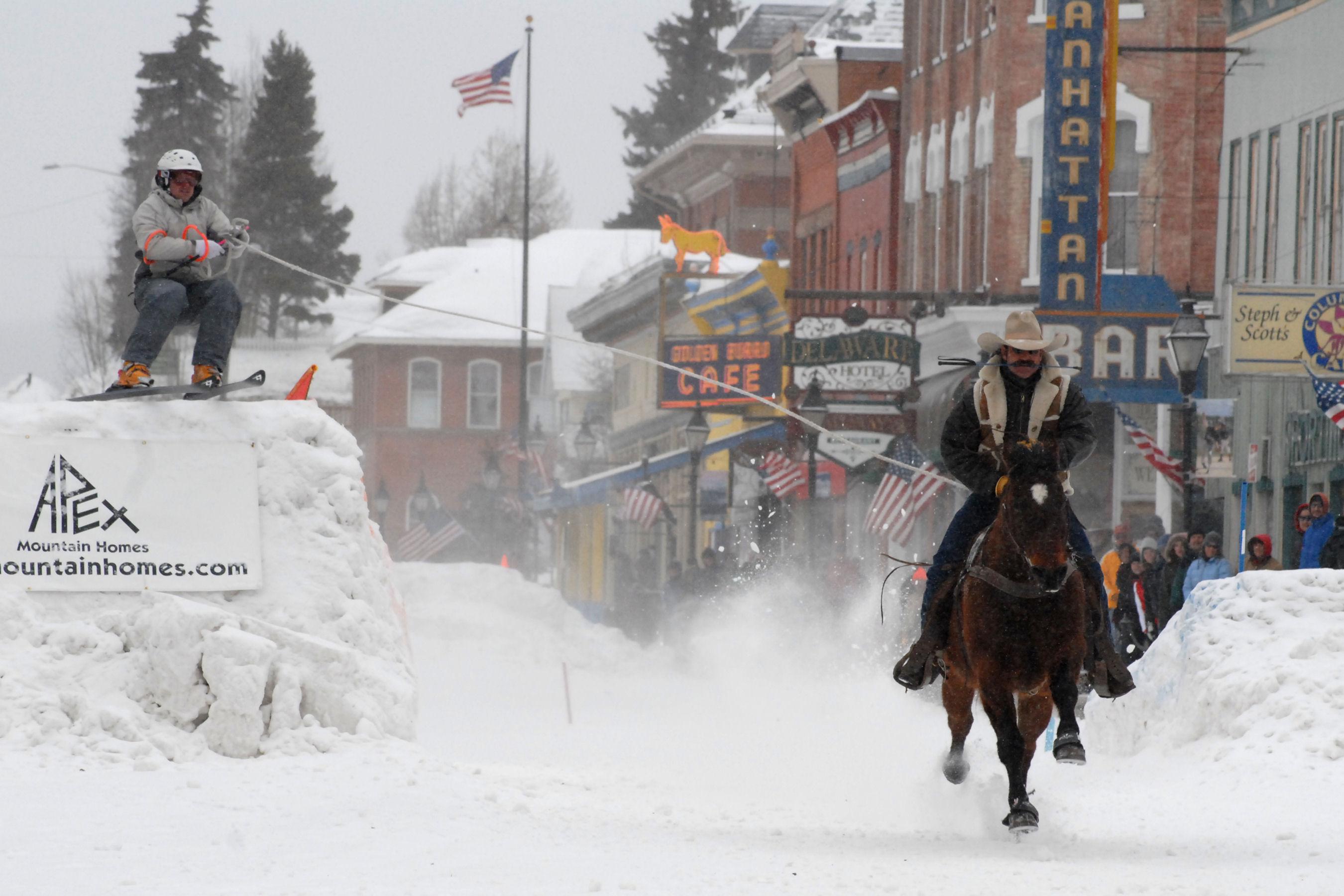 Leadville Colorado Celebrates Winter With Ski Joring And