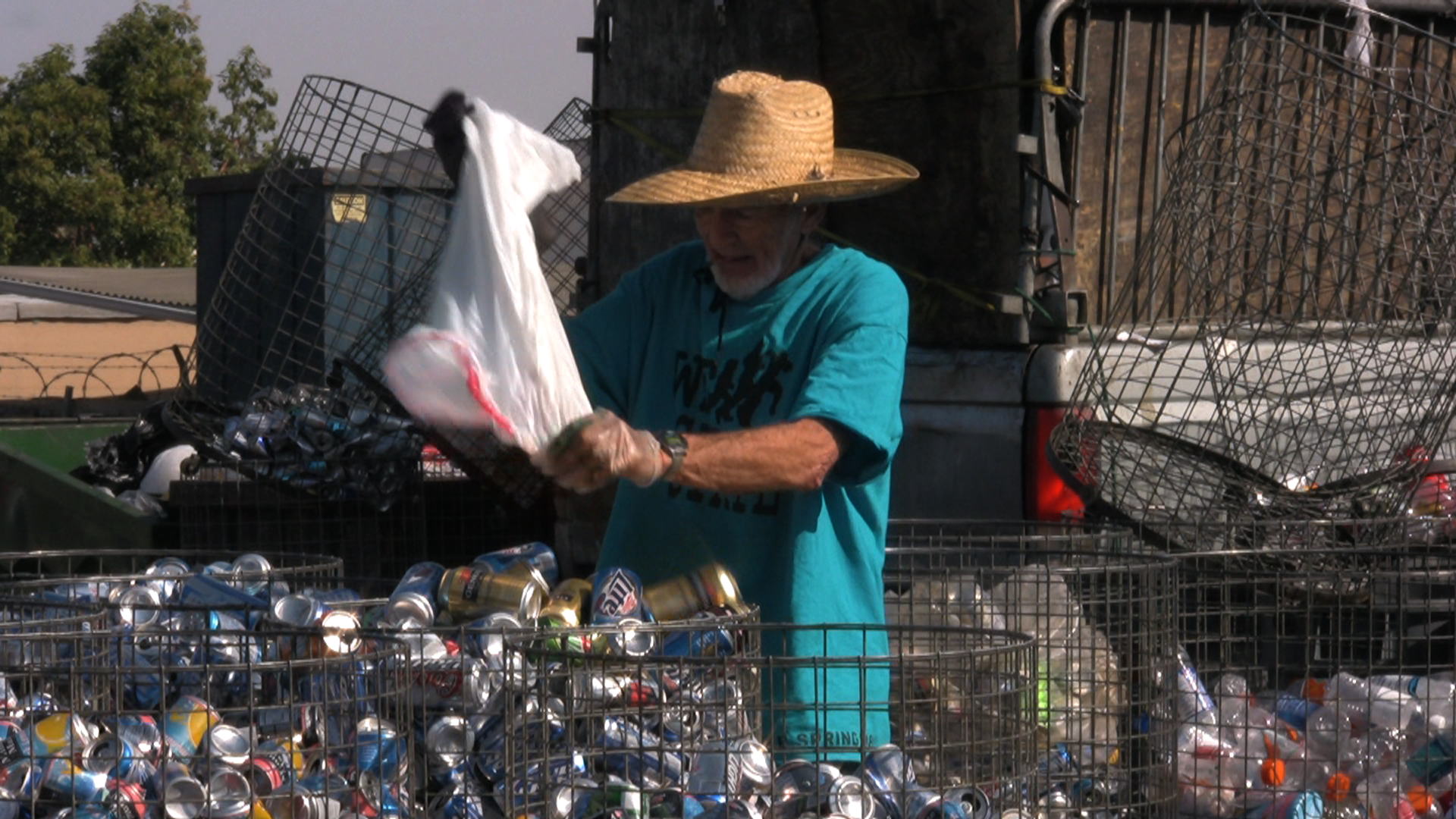 Meet Don -- he recycles cans for a living.