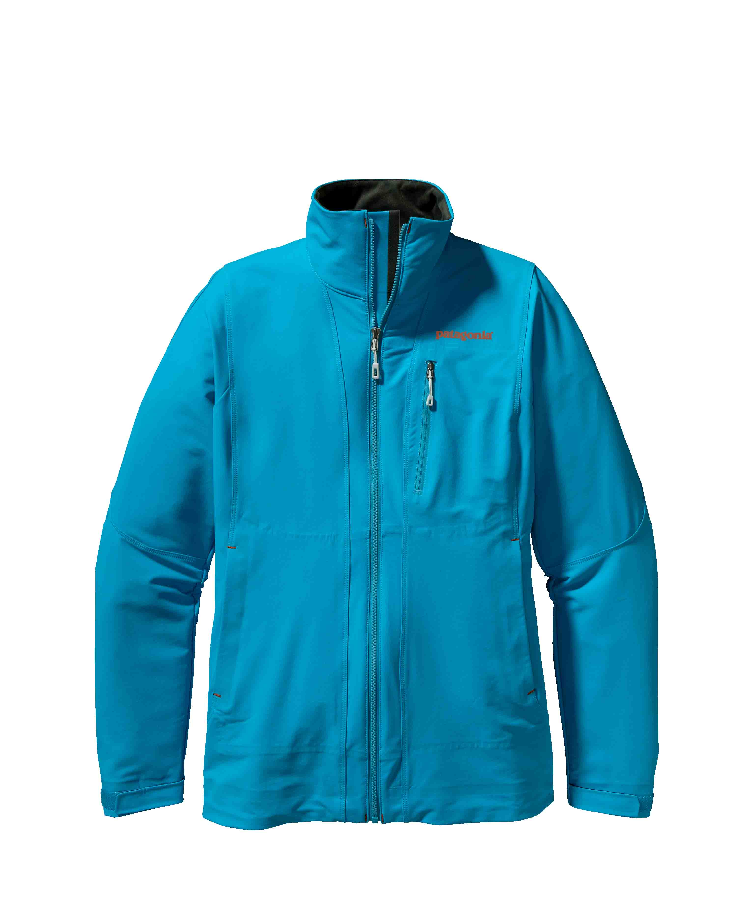 Patagonia women's Alpine Guide Jacket - The Alpine Guide Jacket and Pants are highly durable, breathable soft shells made of a new wind-resistant Polartecr Power Shieldr Stretch Woven fabric to both protect and vent on extended, demanding climbs or ski tours. Polartecr Power Shieldr Stretch Wovens are enhanced with Polartecr Hardfacer technology to dramatically increase abrasion and snag/pick resistance, improve lasting durable water repellency, reduce moisture gain in wet conditions and accelerate dry-times. Polartecr Power Shieldr Stretch Woven fabrics offer a dramatic improvement on the original soft shell concept - single layer woven fabrics that deliver excellent weather protection, high breathability and lasting durability for harsh use.