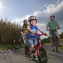 Biking on The Virginia Capital Trail, a multi-use paved trail connecting Jamestown and Williamsburg to Richmond along Scenic Route 5. The trail spans 400 years of history that shaped America from the first English settlement at Jamestown to the Revolution at Colonial Williamsburg and the National Battlefields in Charles City and Henrico Counties.