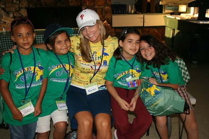 Karen Moyer with Camp Erin Campers