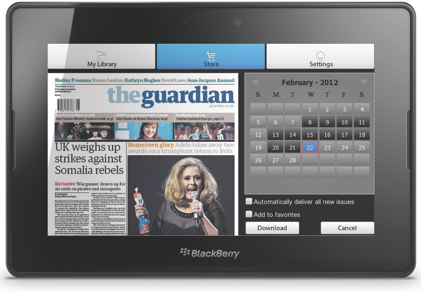 New BlackBerry PlayBook OS 2.0 now includes PressReader, the only aggregated newspaper and magazine app that offers more than 2,000 top daily and business newspapers and magazines from around the world - with just one subscription.