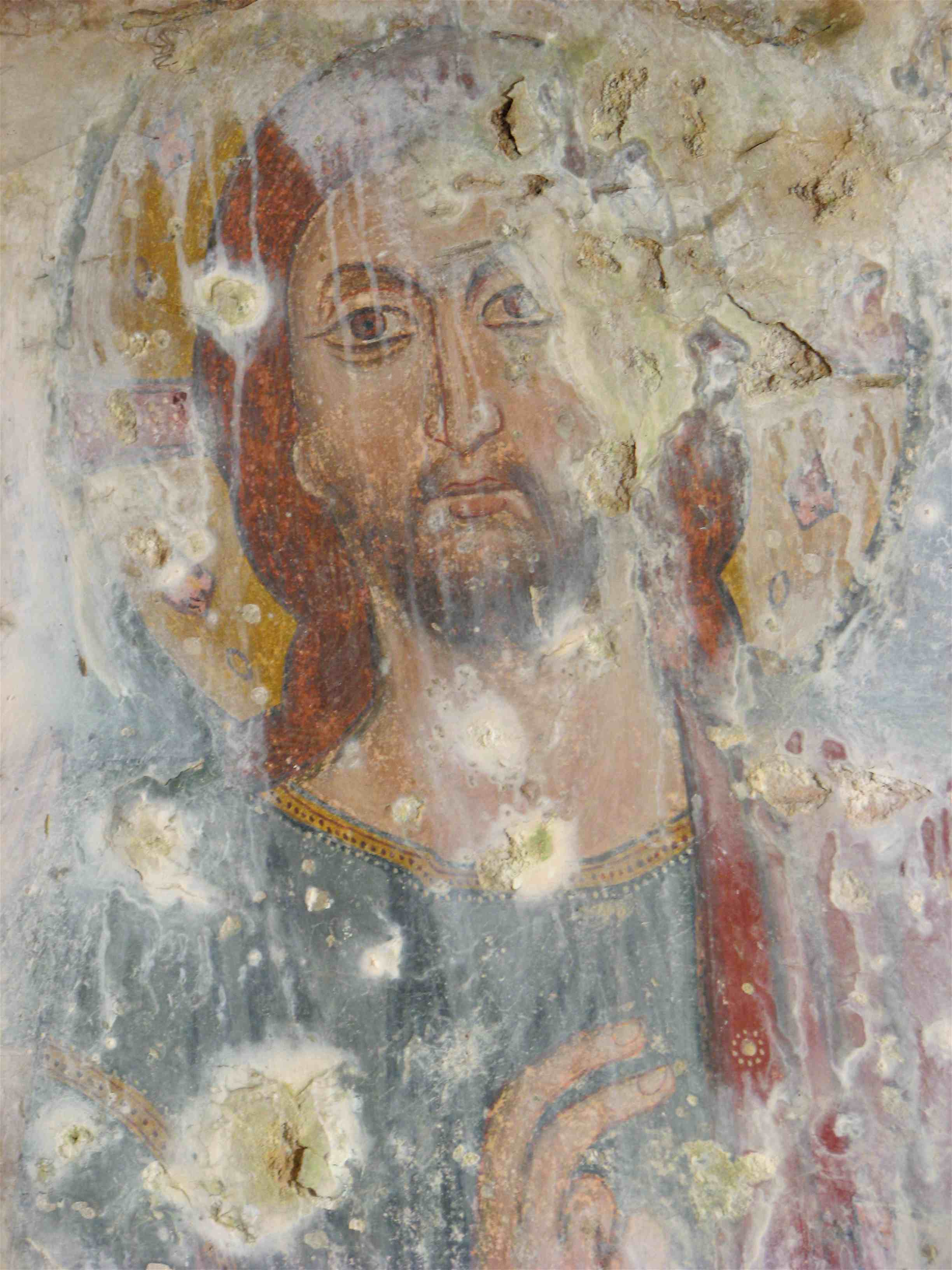 Byzantine Fresco in the caves of Italy