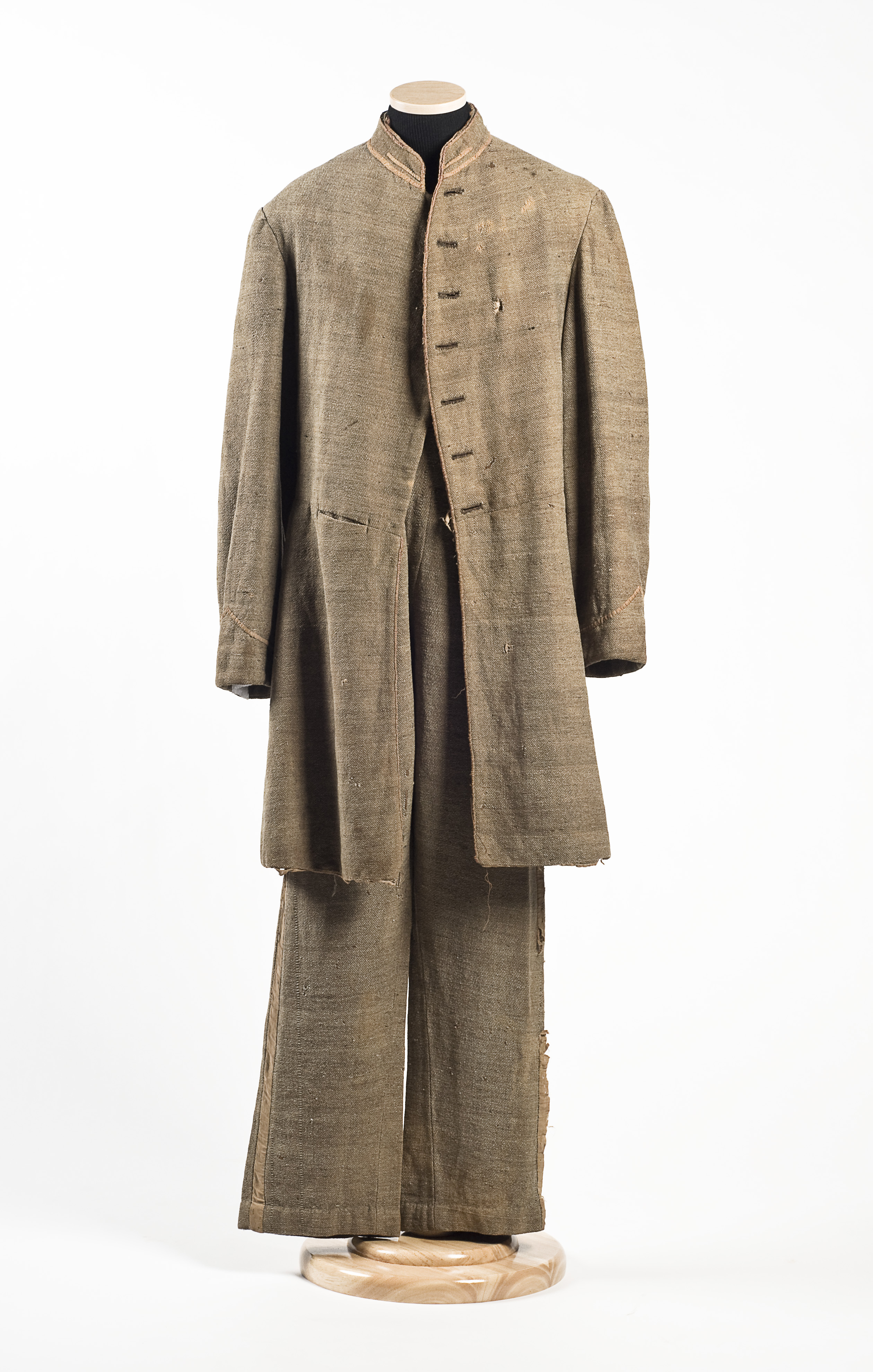 Blood-stained Civil War uniform at Charleston Museum
