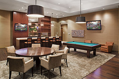 The Austonian's 10th floor Billiard and Game Room