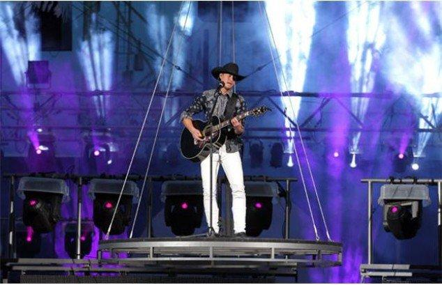 Country music star, Paul Brandt, at the 2012 Grandstand show