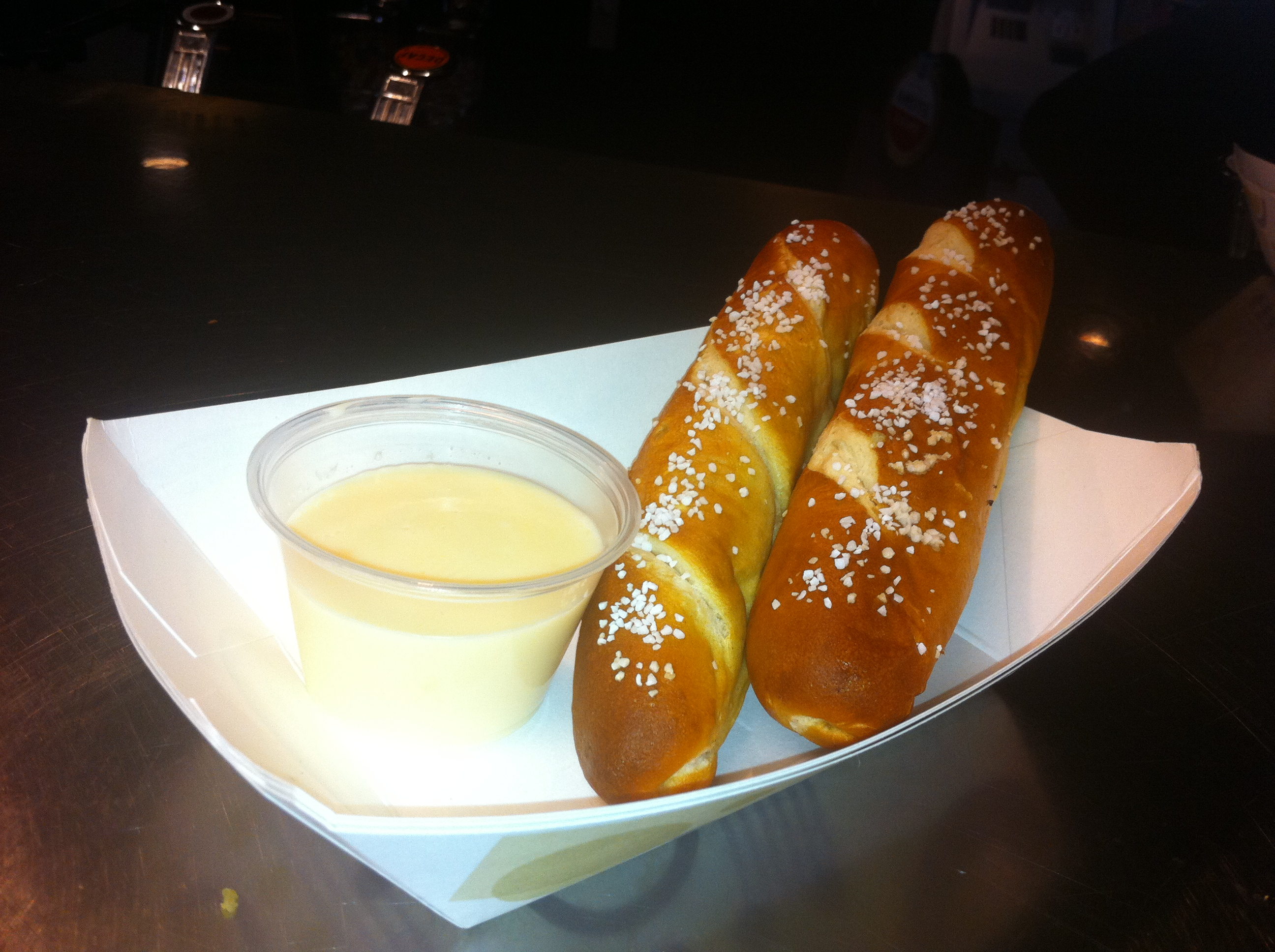 Pretzel Sticks W/Homemade Cheese Sauce