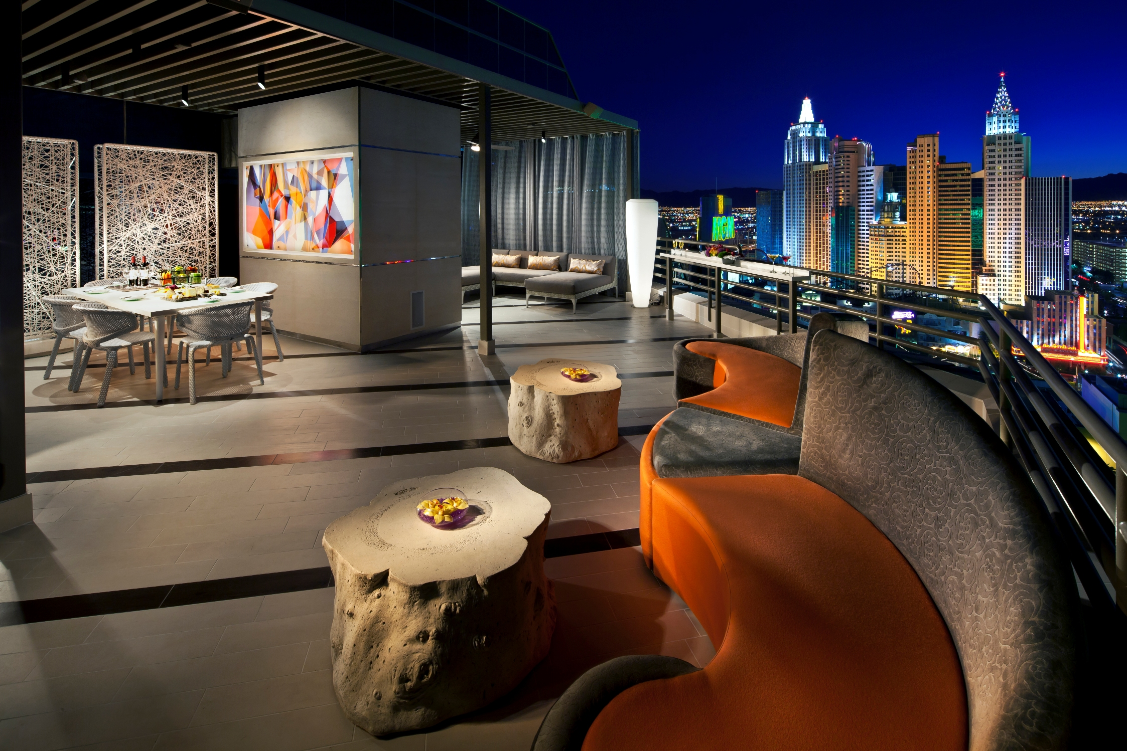 MGM Grand   Skyline Terrace Suite Balcony. MGM Grand Marks Major Milestone in  Grand Renovation  with