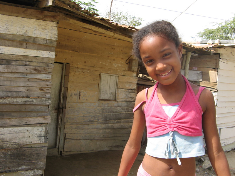 Poor children in the Dominican Republic live on less than $1.25 a day.