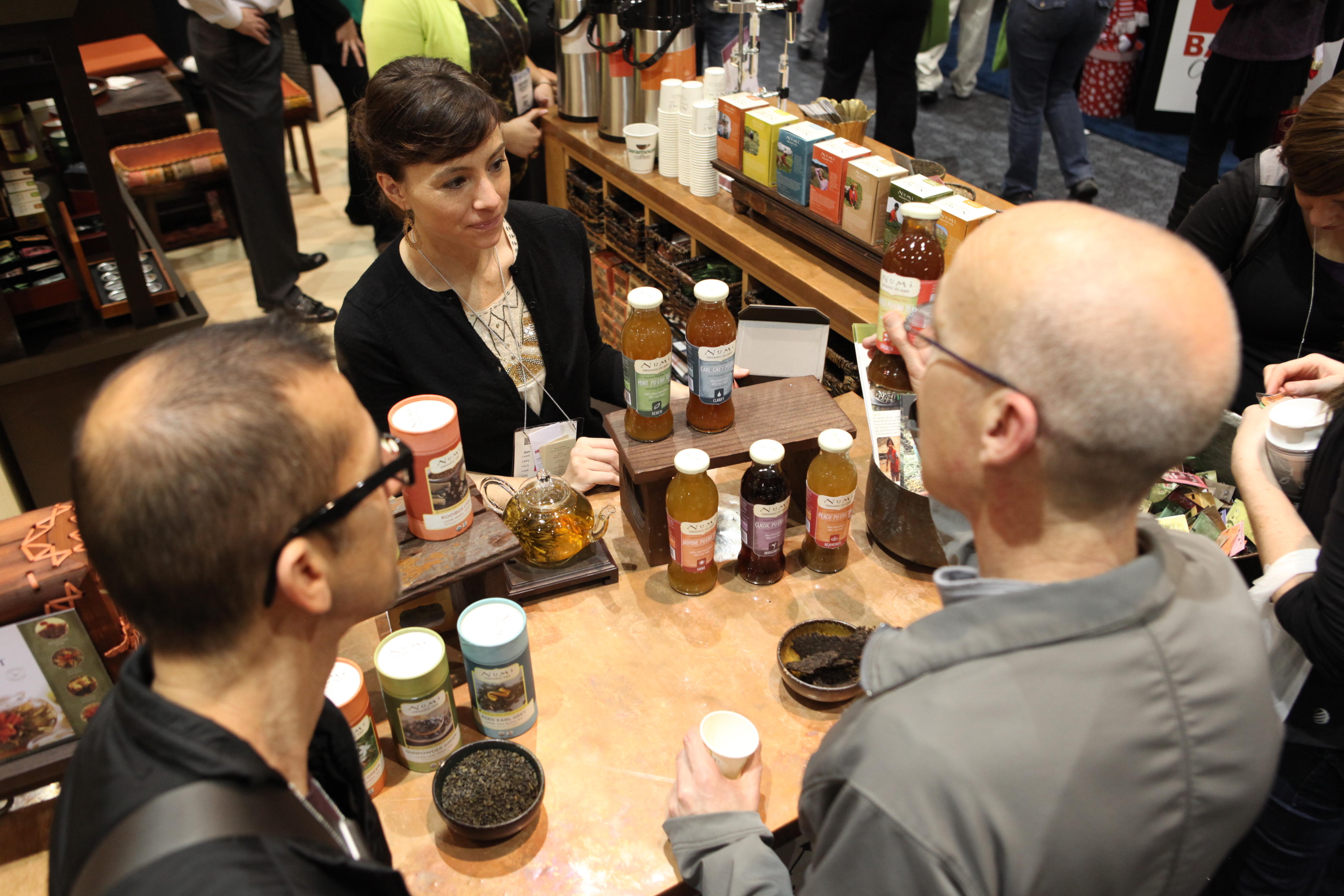 Tea Sampling at 2011 Winter Fancy Food Show