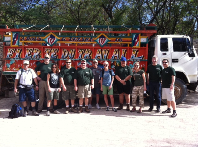 Volunteers from Sapa Extrusions participate in the restoration efforts in Haiti.